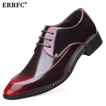 ERRFC Designer Pointed Red Dress Shoes