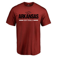 Men's Cardinal Arkansas Razorbacks Custom Sport Wordmark T-Shirt