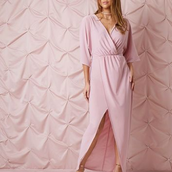 Prettylittlething Cape Sleeve Maxi Dress