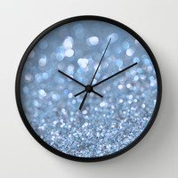 Baby Baby Blue Wall Clock by Lisa Argyropoulos