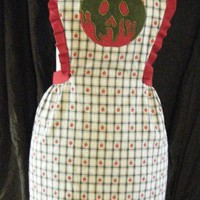 Poison Apple Applique and Embroidered Retro Reversible Apron
