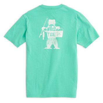 Wild with the Tide Bear Tee in Bermuda Teal by Southern Tide