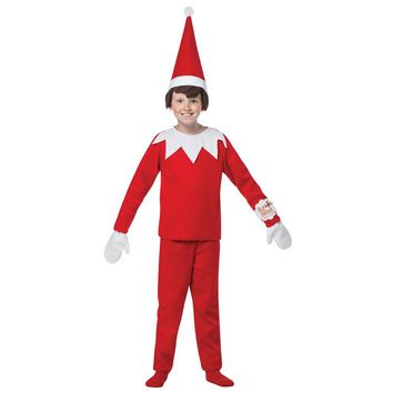 Elf On The Shelf Boys Costume Medium 7-10