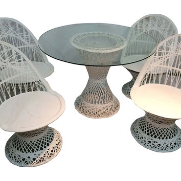 Spun Fiberglass Table & 4 Chairs