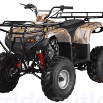 PRO TT XL Youth Size Grizzly Clone 125cc ATV (Big 21/20 inch wheel, extra large body frame, Fully Automatic w/ Reverse, Speed Limiter, Safety Remote Engine Shut Off Switch, Fully Assembled Available)