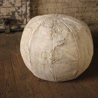 Recycled Canvas Globe Pouf