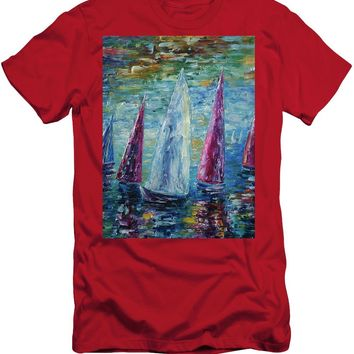 Sails To-night - Men's T-Shirt (Athletic Fit)