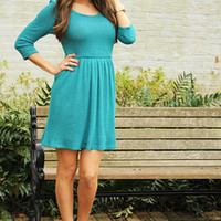 EVERLY: Promise Me Tonight Dress: Turquoise | Hope's