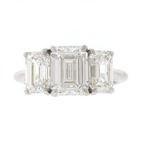 Tiffany & Co. Three Stone Diamond Ring in Platinum #505023