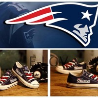 New England Patriots Canvas Sneakers