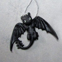 Toothless necklace from the movie How To Train Your Dragon