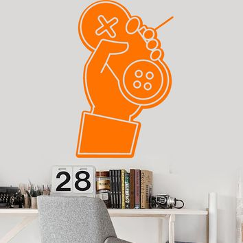 Vinyl Wall Decal Gamer Hand Joystick Console Video Game Stickers (2565ig)