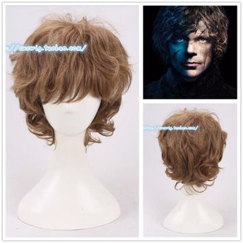 Tyrion Lannister Cosplay Wig Game of Thrones Role Play Wig Halloween Hair + net