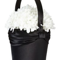 Satin Flower Basket-Black