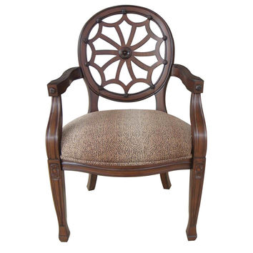 Crestview Collection S Savannah Spider Back Animal Print Chair