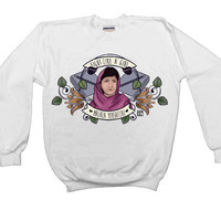 Fight Like A Girl (Malala) -- Women's Sweatshirt