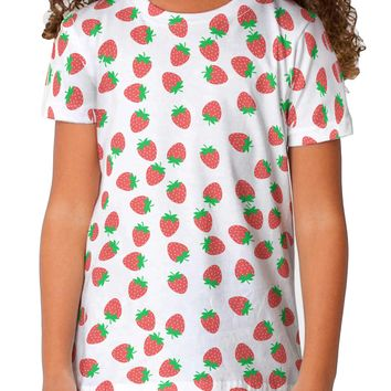 Strawberries Everywhere Toddler T-Shirt Dual Sided by TooLoud