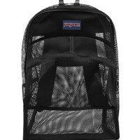 JanSport Mesh School Backpack - Womens Backpack - Black - One