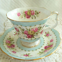 Vintage Royal Albert Gaiety Series Tea Cup and Saucer/Cottage Style Decor