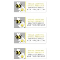 Happy Bee and Daisy Return Address Labels