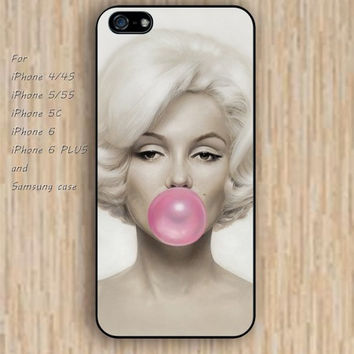 iPhone 6 case pink Blowing bubble gum iphone case,ipod case,samsung galaxy case available plastic rubber case waterproof B082