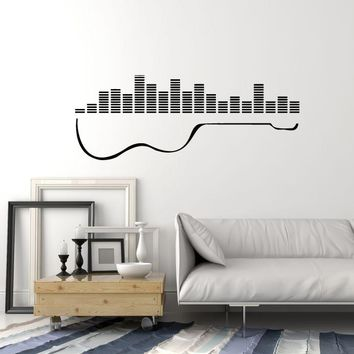 Vinyl Wall Decal Guitar Musical Instrument Mixer DJ Sound Stickers Mural Unique Gift (ig5213)