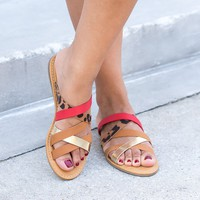 Happiness Strappy Sandals - Leopard