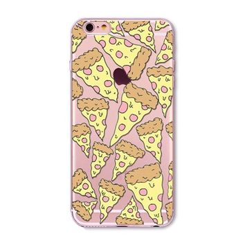 Pizza Clear Phone Case For 6 6s Plus 5 5s SE