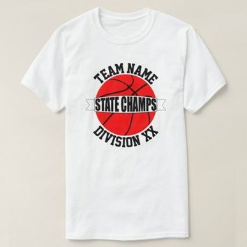 Red Basketball State Championship Team T-Shirts