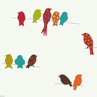York Wallcoverings Bistro 750 Bird On A Wire Wallpaper
