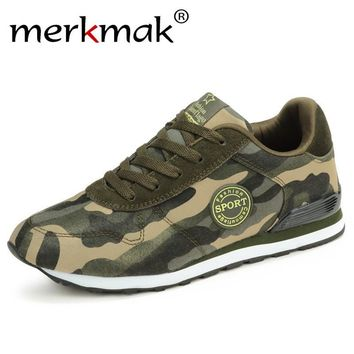 Merkmak 2017 Fashion Lovers Unisex Canvas Shoes Camouflage Military Men Casual Shoes Breathable Camo Flats Mens Chaussure Femme
