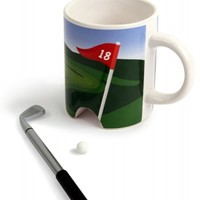 Putter Cup Golf Mug Fathers Day Gift, Golf Gift, Guy Gift, Gift for Golfer| Catching Fireflies