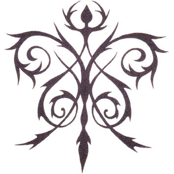FLORAL CELTIC Temporary Tattoo 2x2