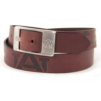 Auburn Tigers NCAA Men's Embossed Leather Belt (Size 44)