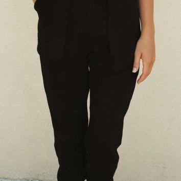 Leave The Night On Pants: Black - Pants - Bottoms - Hope's Boutique