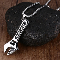 Men Handy Guy Wrench Necklace