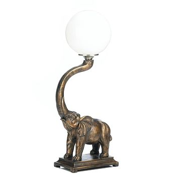Trumpeting Elephant Globe Lamp