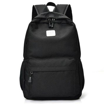 University College Backpack New fashionable pure color nylon women   student school book bag leisure  travel bagAT_63_4