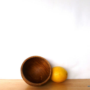 Small Wood Bowl Hand Turned Wooden Bowl Catch All Decorative Bowl Rustic Decor Kitchen Bowl