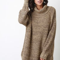 Oversize Turtleneck Wool Sweater
