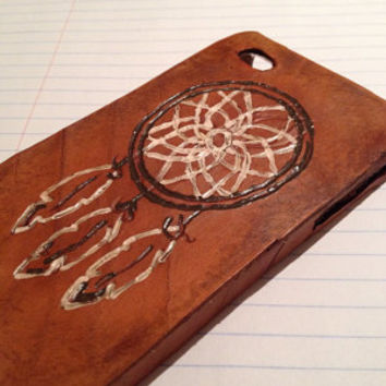 Leather Dream Catcher Phone Case for iPhone 4/4s