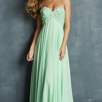 Strapless Empire Waist Gown by Night Moves