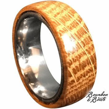 Authentic Bourbon Barrel Men's Ring