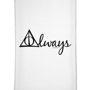 Always Magic Symbol Cursive Flour Sack Dish Towel by TooLoud