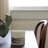 Porcelain Clay Whiskey / Coffee Cup