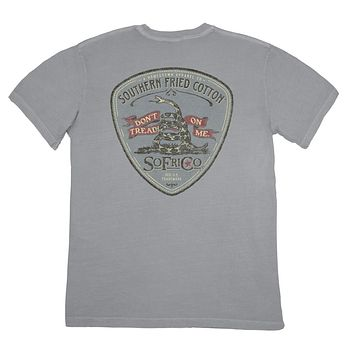 Gadsden Patch Tee in Chicken Wire by Southern Fried Cotton