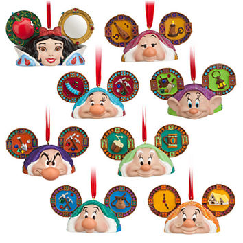 Disney Snow White and the Seven Dwarfs Ear Hat Ornament Set | Disney Store