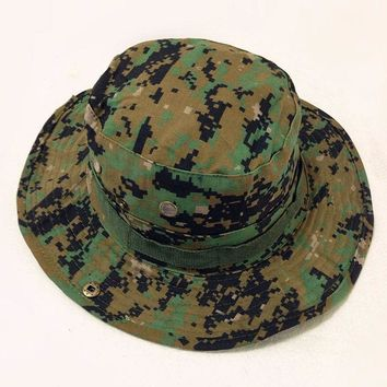 Tactical Caps Bucket Hats Outdoor Sport Snapback CapsCamouflage Black ACU Jungle Digital Boonie Hats Casual Gorras Adjustable