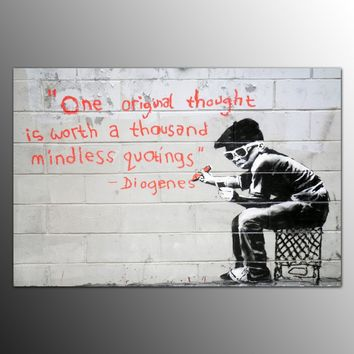 Banksy Graffiti Painting Wall Art Decorative Canvas  Artwork Picture Canvas Art For Living Room No Framed