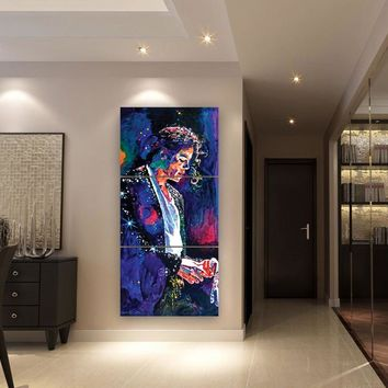 3 Piece Michael Jackson Painting Modular Wall Art Picture